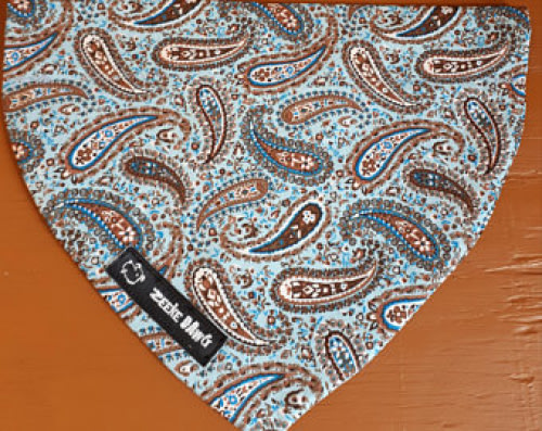 Dog Bandana Blue Shapes (collar through)