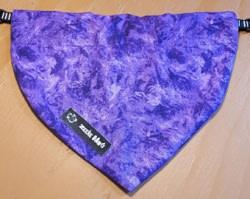 Dog Bandana Purple (through collar)