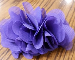 Dog Collar Flower Purple Ruffle