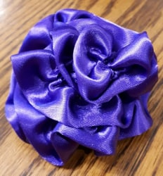Dog Collar Flower Purple Twist