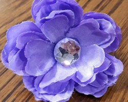 Dog Collar Flower Purple