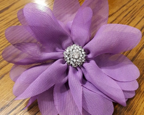 Dog Collar Flower Purple Thin Star
