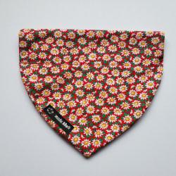 Dog Bandana Flowers (collar through)