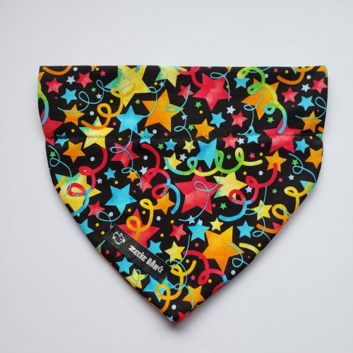 Dog Bandana Party Stars (collar through)