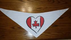 Tie-On Bandana Canada Heart