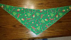 Tie-On Bandana Christmas Green