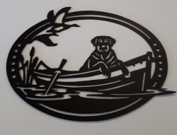 Labrador Retriever Metal Cutout