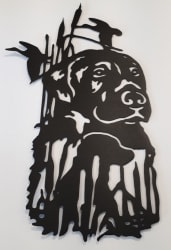 Chocolate Lab Metal Cutout
