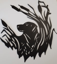 Lab Puppy Metal Cutout