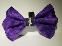 Purple Marble Bow Tie