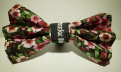 Fall Flower Bow Tie