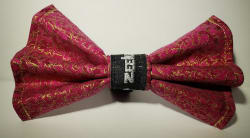 Pink Dragon Bow Tie