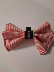 Red Striped Bowtie