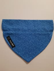 Dog Bandana Royal Blue Flowers (collar through)
