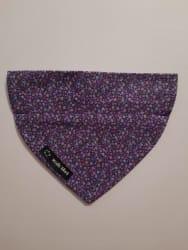 Dog Bandana Purple Flowers (collar through)