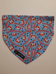 Dog Bandana Canada Day Blue (collar through)