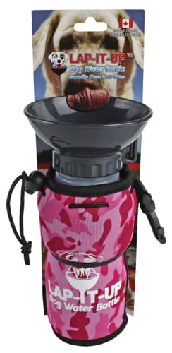 Lap-It-Up Dog Water Bottle - Pink Camo
