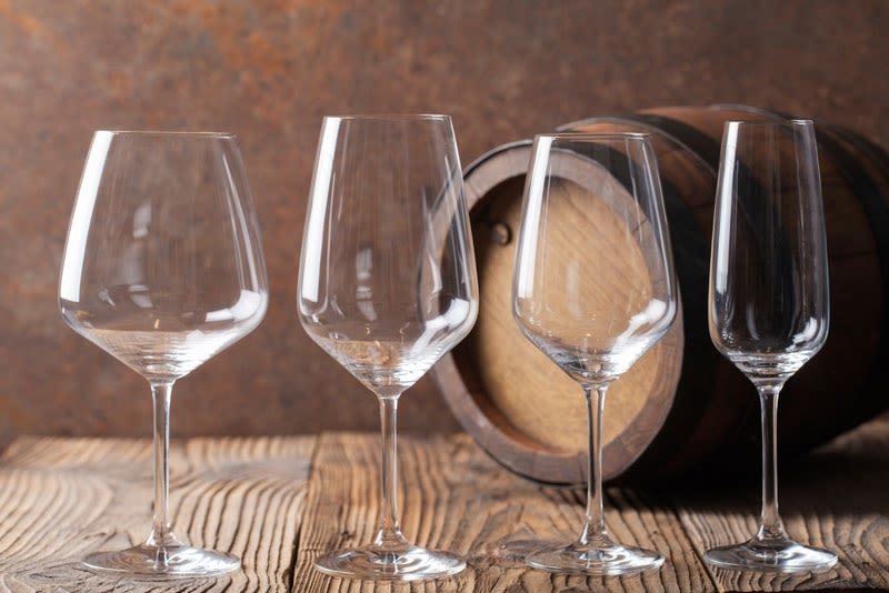Crystal Wine Glasses - Set of 8