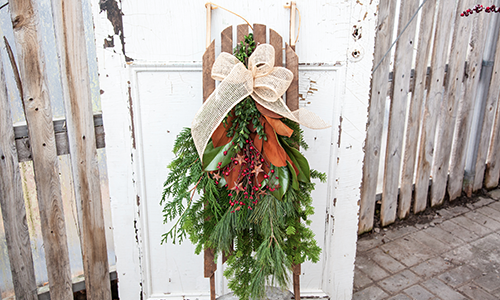 Rustic Winter Sleigh Swag Workshop