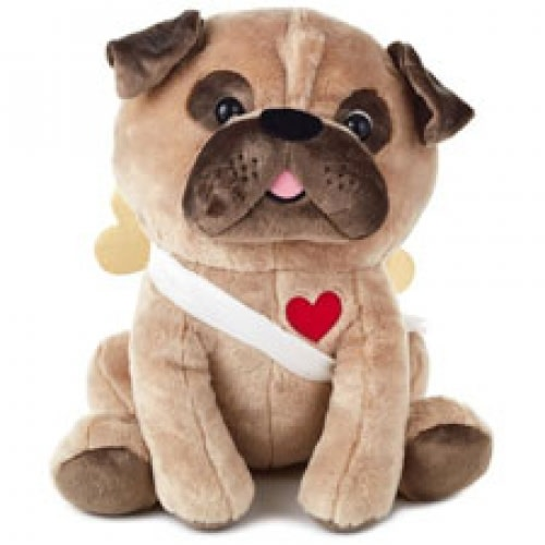 Cupid Pug Stuffed Animal