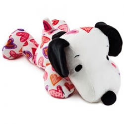 Heart Print Floppy Snoopy Plush