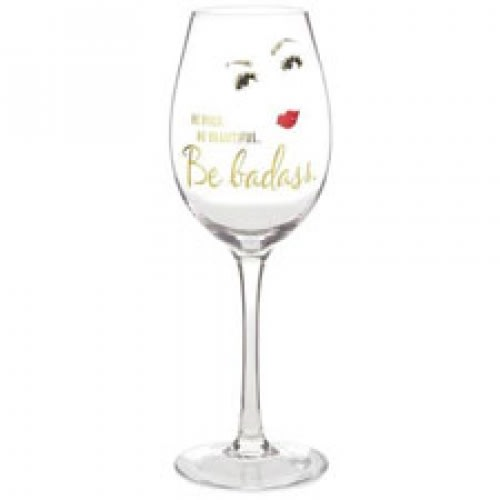 Be Badass Wine Glass