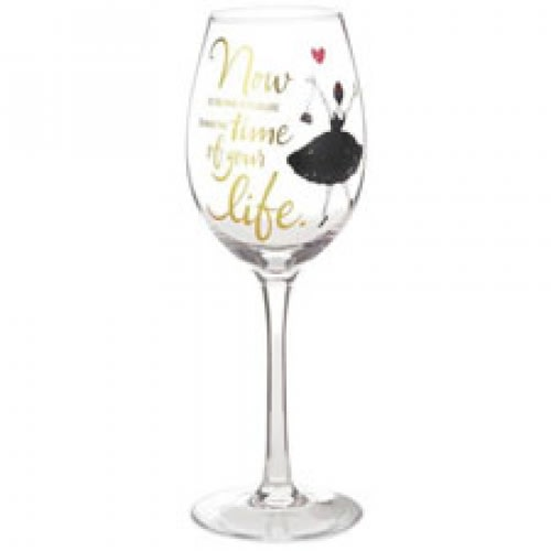 Time of Your Life Wine Glass