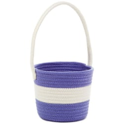Purple Woven Cotton Easter Basket