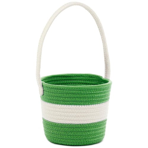 Green Woven Cotton Easter Basket