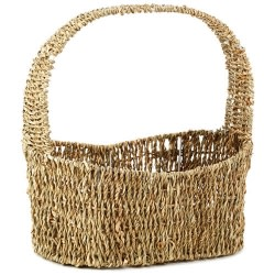 Woven Sea Grass Easter Basket - Large