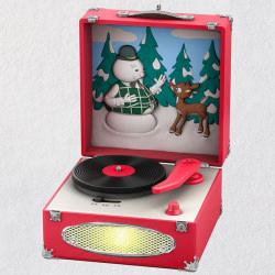 Rudolph the Red-Nosed Reindeer® Record Player Musical Ornament