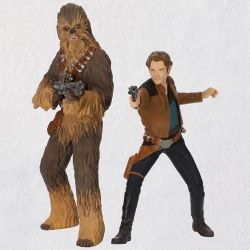 A Star Wars Story™ Han Solo™ and Chewbacca™ Ornaments,