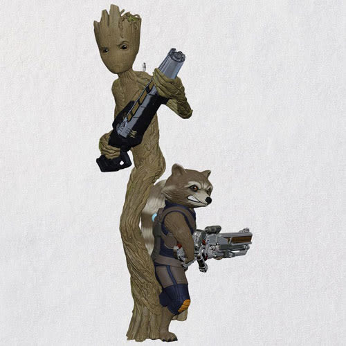 Marvel Avengers: Infinity War Groot and Rocket Ornament
