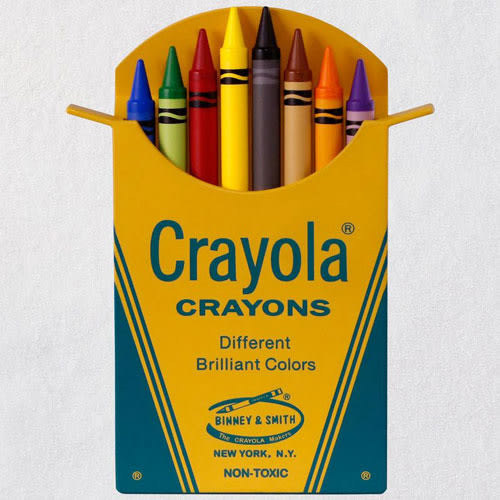Crayola® Classic Box of 8 Crayons Ornament