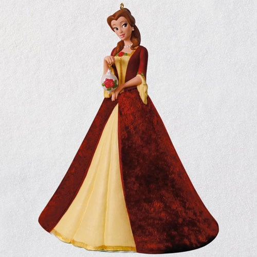 Disney Beauty and the Beast Christmas Belle Porcelain Ornament