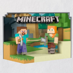 Minecraft Steve and Alex Ornament