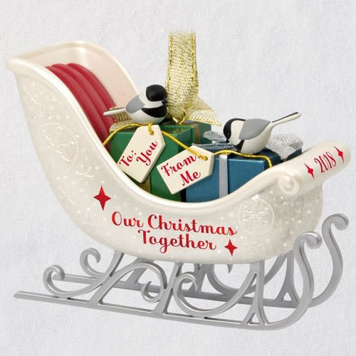 Our Christmas Together Sleigh 2018 Ornament