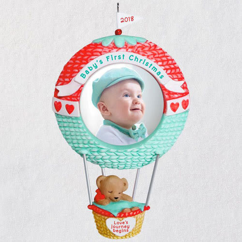 Baby's First Christmas Love's Journey Begins 2018 Photo Ornament