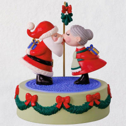 Kissing Clauses Musical Ornament With Motion