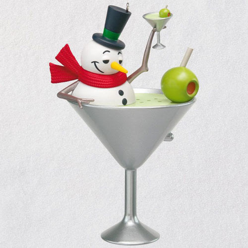 I Feel Good Snowman Martini Musical Ornament