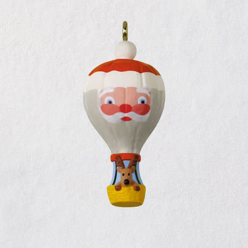 Mini Up and Away Santa Balloon Ornament