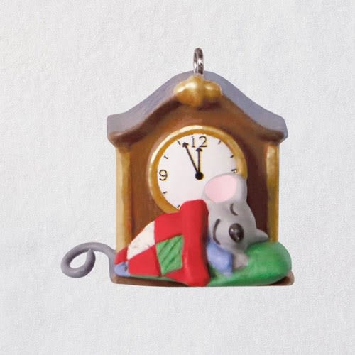 Mini A Creature Was Stirring Mouse by Clock Ornament