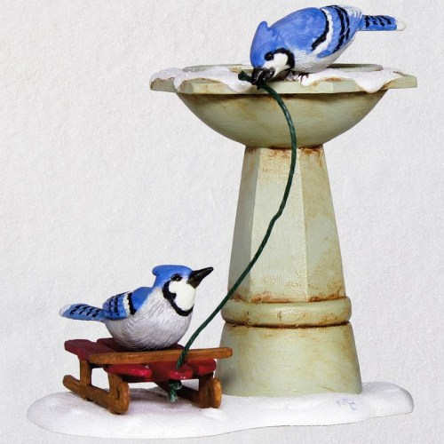 Marjolein Bastin Marjolein's Garden Bathing Blue Jays Ornament