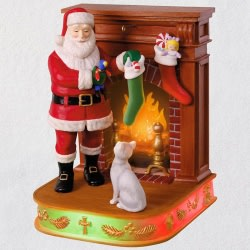 Once Upon a Christmas Stockings Hung With Care Musical Ornament