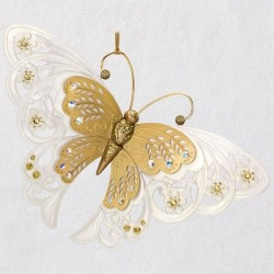 Brilliant Butterflies Gold Ornament