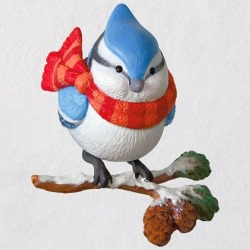 Cozy Critters Blue Jay Ornament