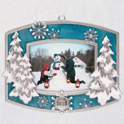 A Beautiful Year 2018 Metal Photo Ornament