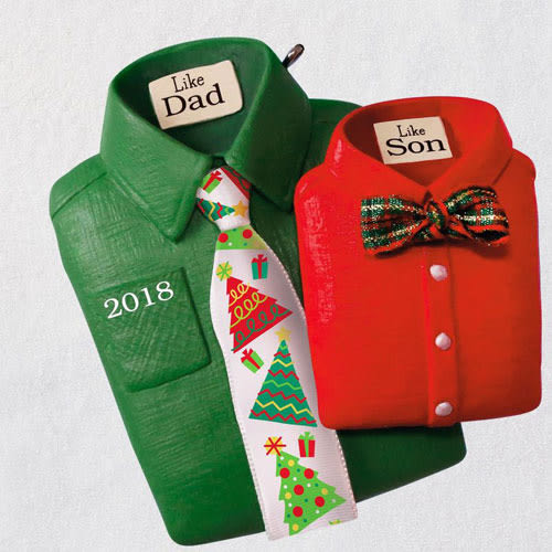 Like Dad, Like Son Shirts and Ties 2018 Ornament