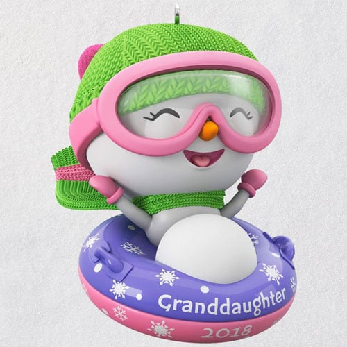 Granddaughter Snowman 2018 Ornament