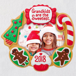 Grandkids Are the Sweetest 2018 Photo Ornament